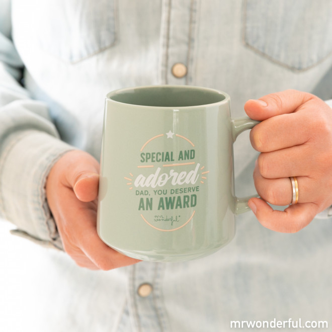 Mug - Special and adored, Dad, you deserve an award