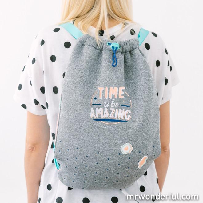 Drawstring bag - Time to be amazing