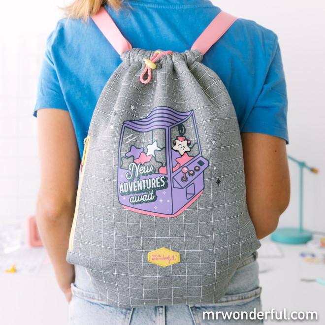 Drawstring bag - New adventures await