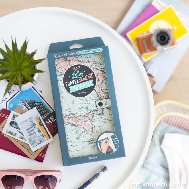 Document holder - Let's travel around the world
