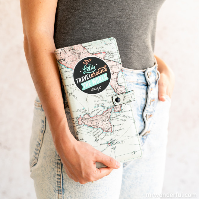 Document holder - Let's travel around the world