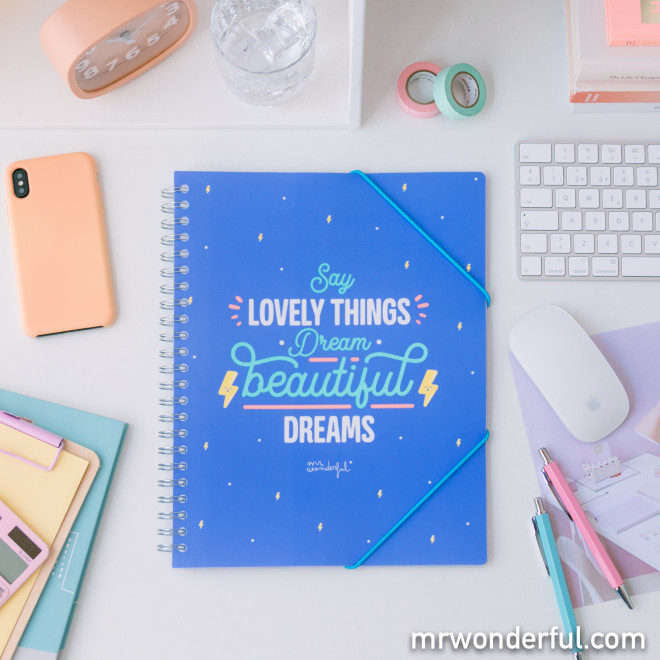Folder with transparent sheets – Say lovely things