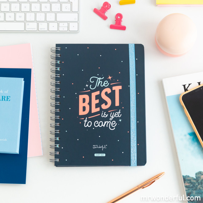Classic diary 2021 Week view - The best is yet to come