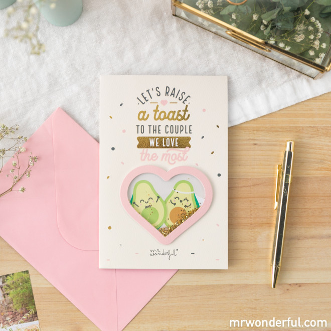 Greetings card – A toast to the couple we love the most