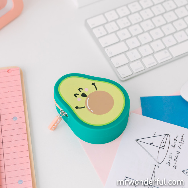 Avocado-shaped purse