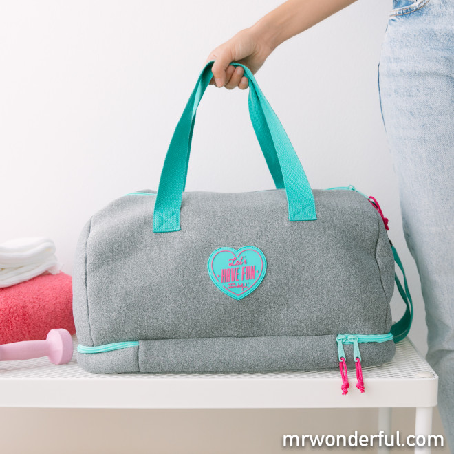 Gym duffle bag - Let's have fun