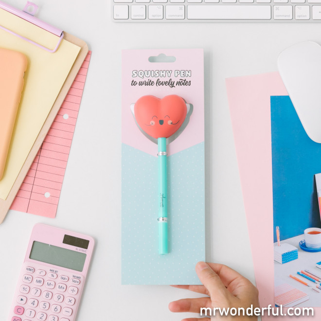 Pen with squishy - Heart