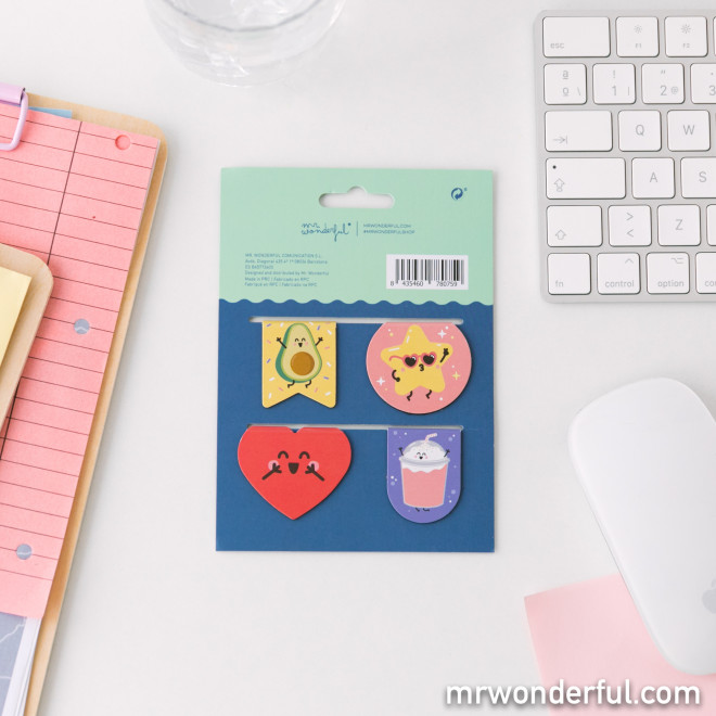 Set of 4 magnetic clips to organise your papers