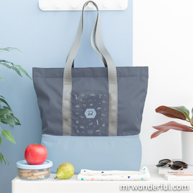 Bolsa con compartimento térmico
