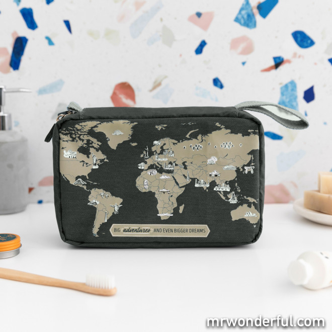 Travel toiletries bag - The world is waiting for you