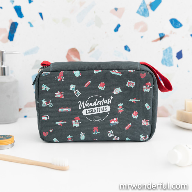 Travel toiletries bag - Wanderlust essentials