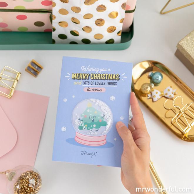 Christmas card - Wishing you a Merry Christmas and...