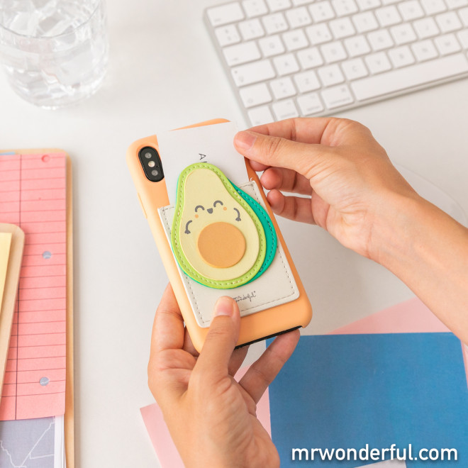 Card holder phone - Avocado