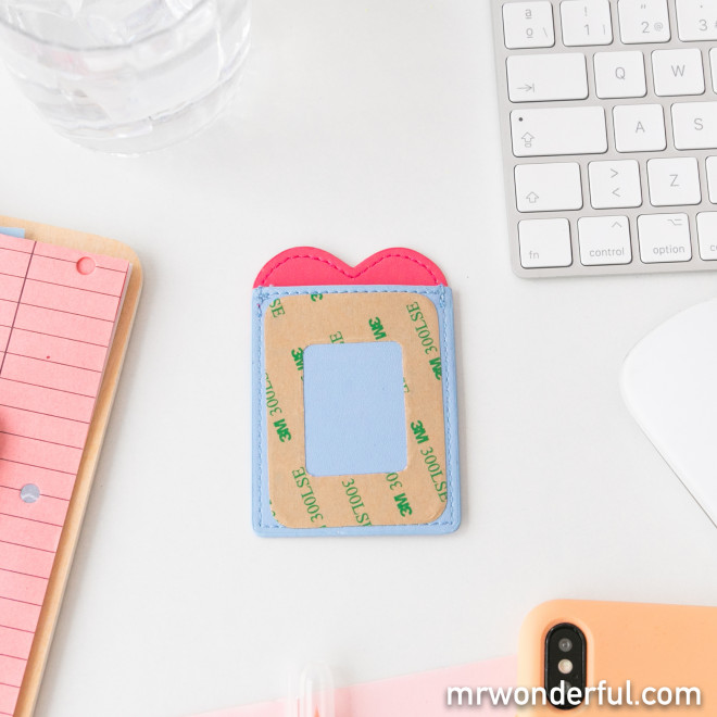 Card holder phone - Heart