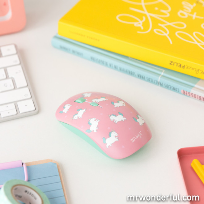 Wireless mouse with interchangeable covers – Milkshakes & unicorns