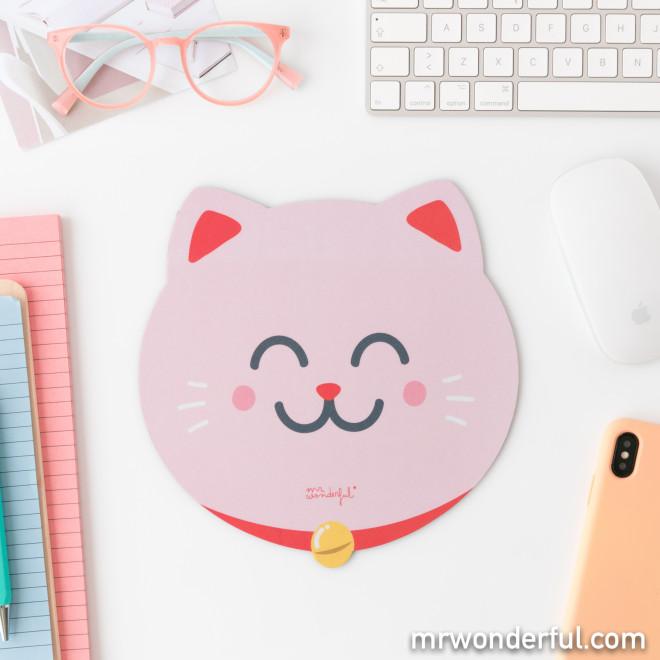 Mouse pad - Maneki-neko cat