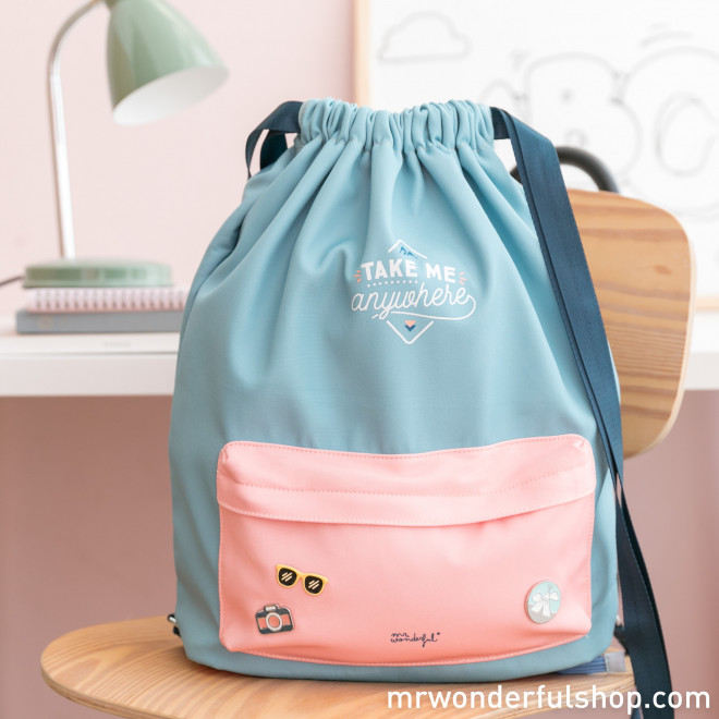 Drawstring backpack - Take me anywhere