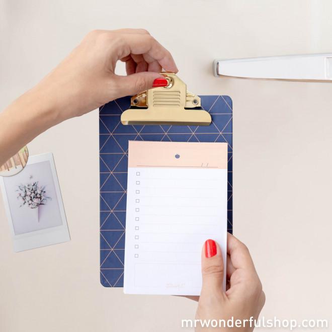 Tablón portapapeles magnético para mensajes que enganchan