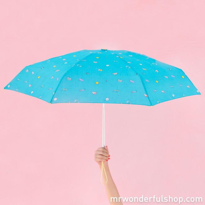 Small umbrella turquoise colour - Sketch Line