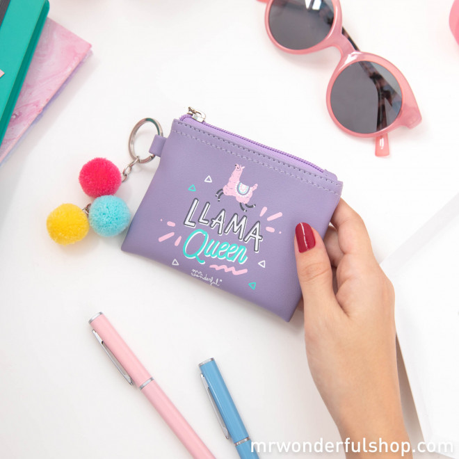 Monedero porta llaves Llama Collection - Llama Queen