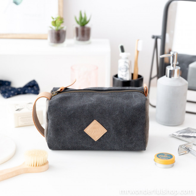 Blue vanity bag - I have big plans
