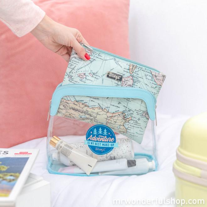 Set of 2 toiletries bags - Adventure is my best make-up