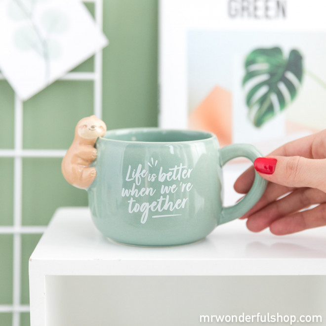 Mug sloth Slow Collection - Life is better when we're together