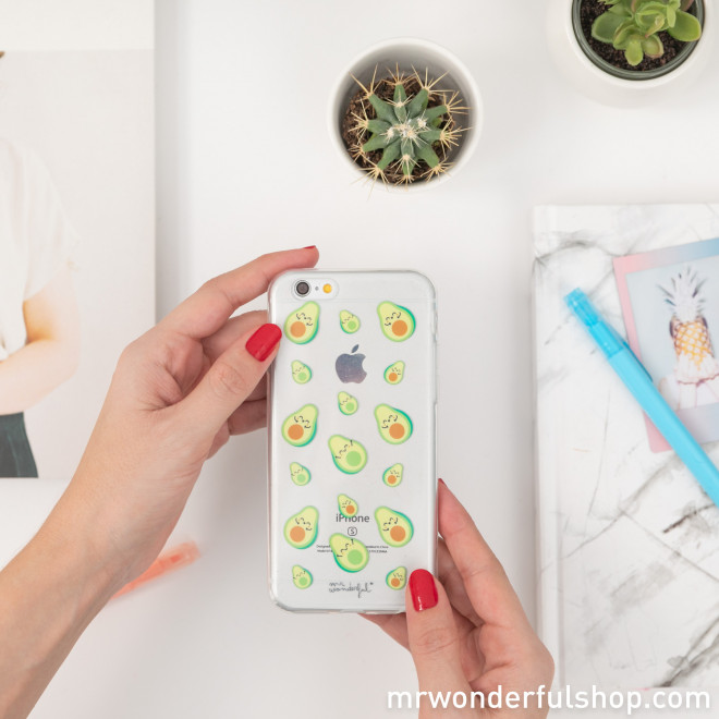 Transparent iPhone 6 case - Avocados