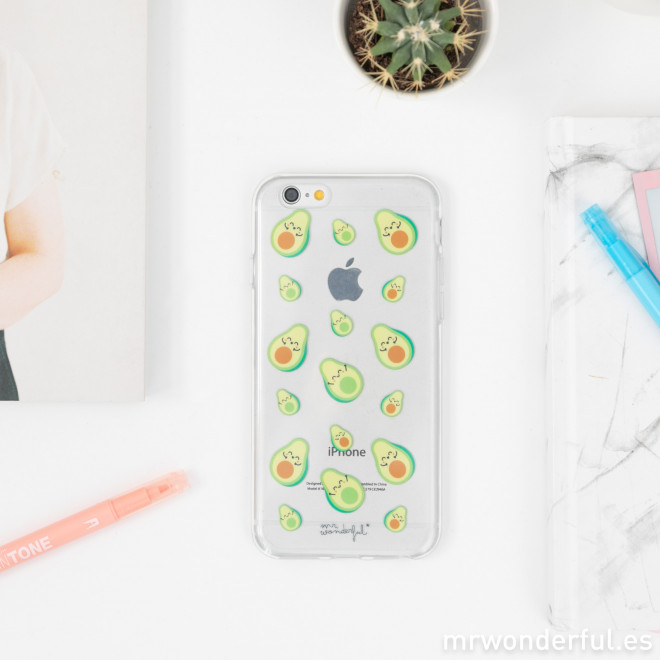 Transparent iPhone 6 plus case - Avocados