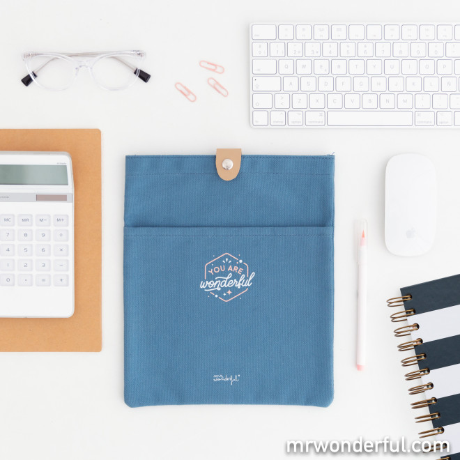Document holder with snap fastener - You are wonderful