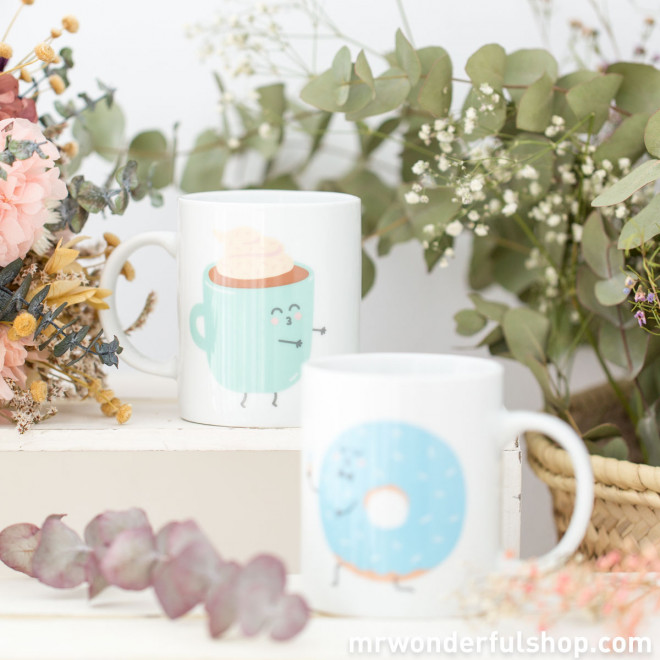 Set of mugs - And together they had breakfast happily ever after (ENG)