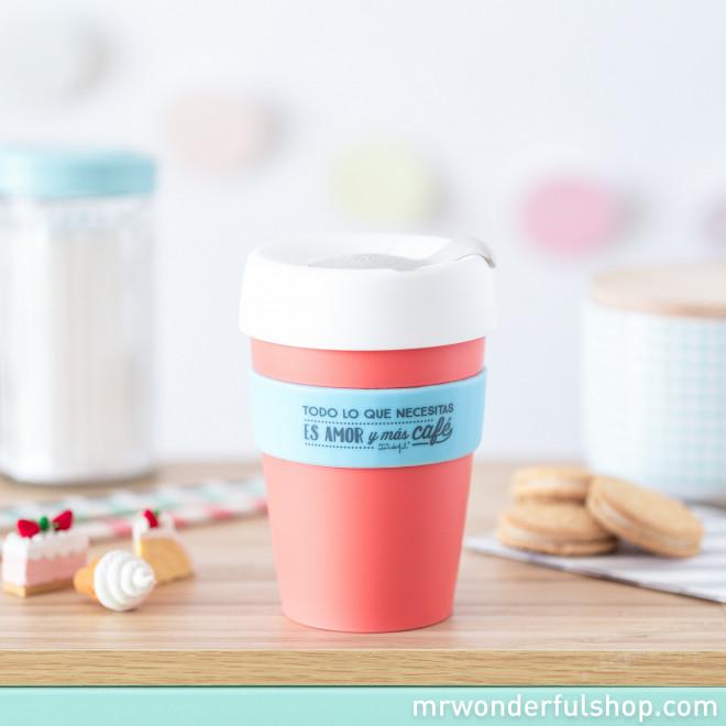 """KeepCup """"Todo lo que necesitas es amor y más café"""" - M"""