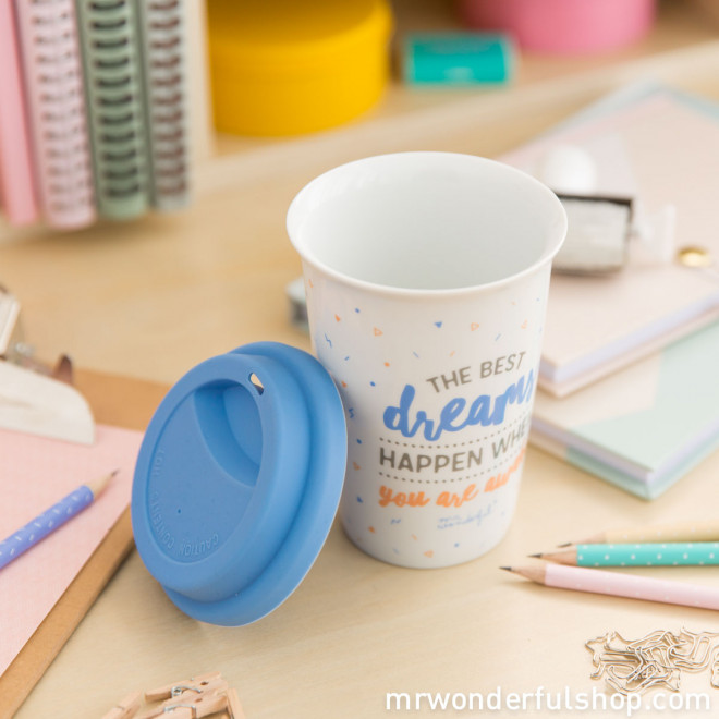 "Take away cup ""The best dreams happen when you wake up"" (ENG)"