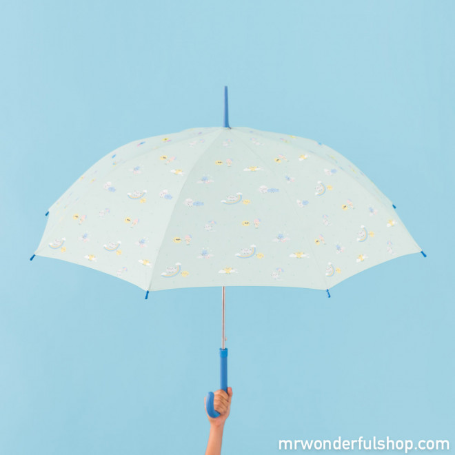 Large-sized umbrella mint with rainbow pattern