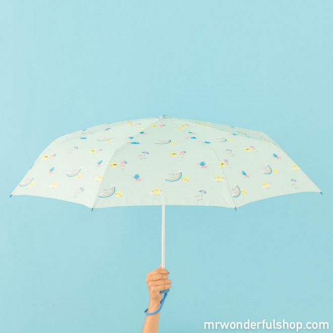 Medium-sized umbrella mint with rainbow pattern