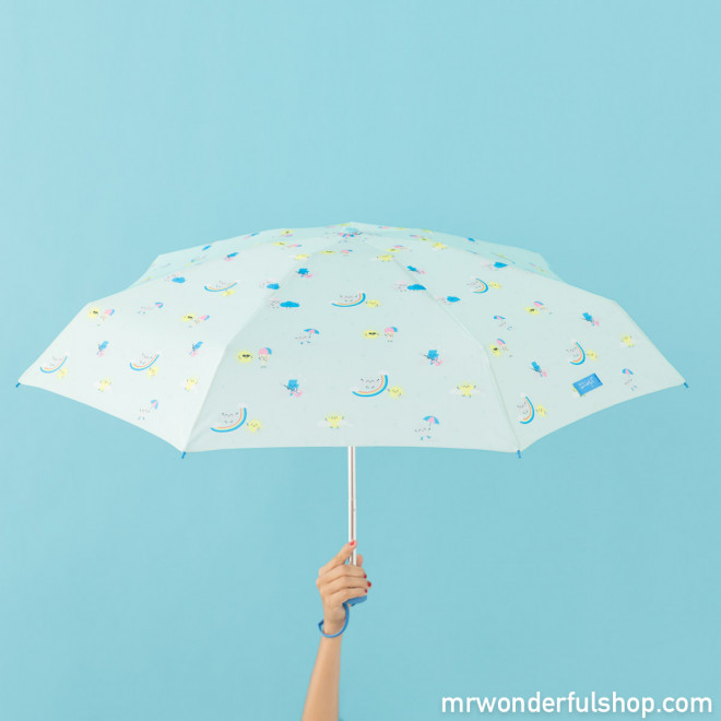 Small umbrella mint with rainbow pattern