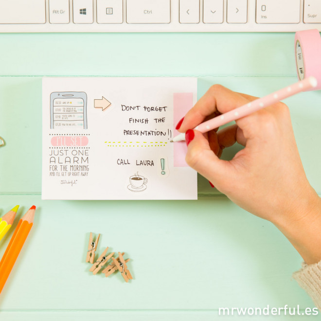Notepad with wonderintentions