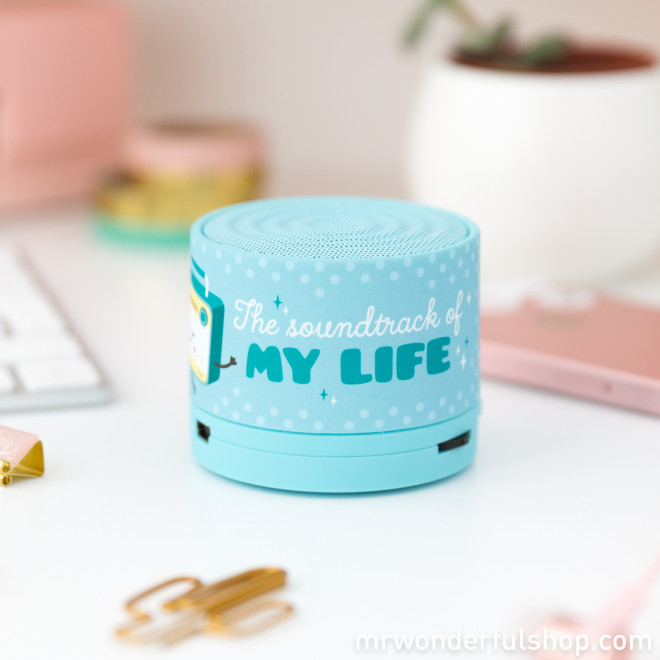 Bluetooth speaker - The soundtrack of my life (ENG)