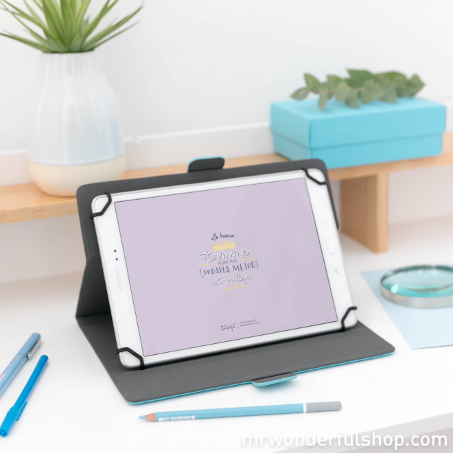 "Universal cover for 9.7"" to 10.1"" tablet - You are my favorite site (ENG)"