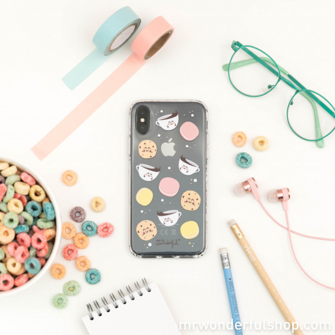 Transparent iPhone X case - Breakfast