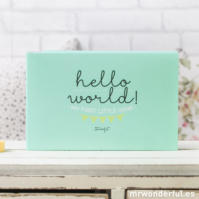 album for baby hello world my first year mr wonderful