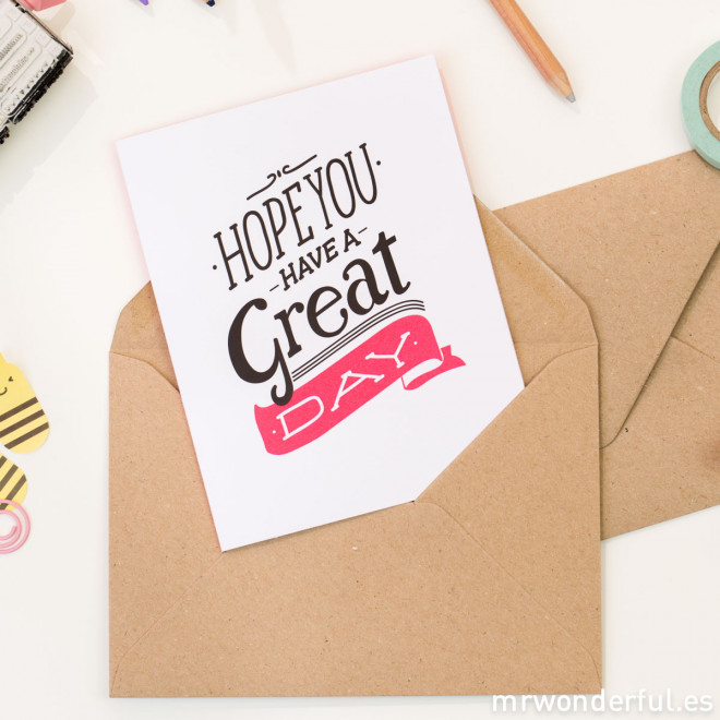 Greeting cards - Color (Pack of 5 units)