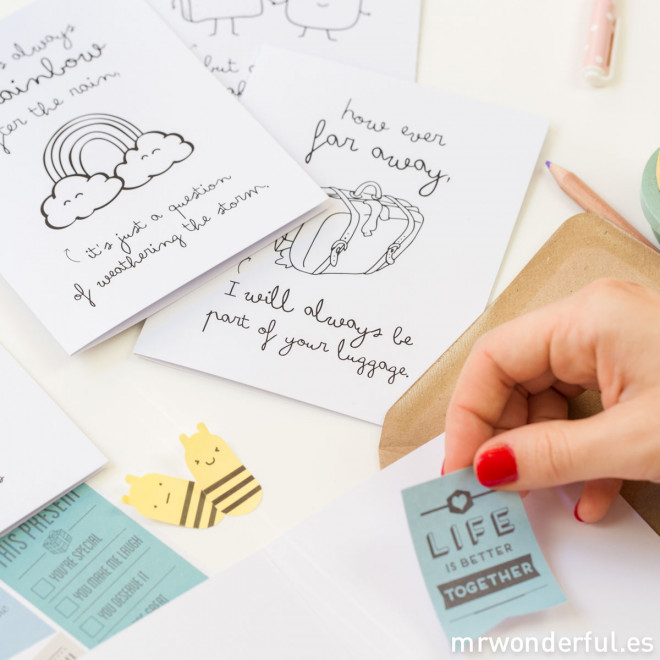 """Pack of 5 greeting cards - """"Wonder tips"""""""