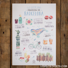 Print Lovely Streets - Lo que me enamora de Barcelona