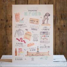 Print Lovely Streets - Lo que me enamora de Madrid