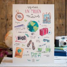 Print Lovely Streets - Voy a vivir un millón de aventuras