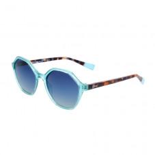 Gafas de sol de inyección hexagonales - Azul claro + Carey
