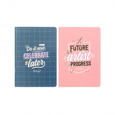 Set of two A5 notebooks - Do it now, celebrate later