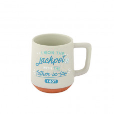 Mug - I won the jackpot with the father-in-law I got