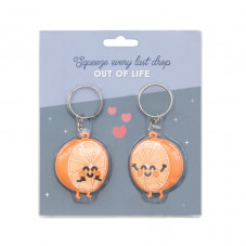 Set of 2 keyrings for people who go well together